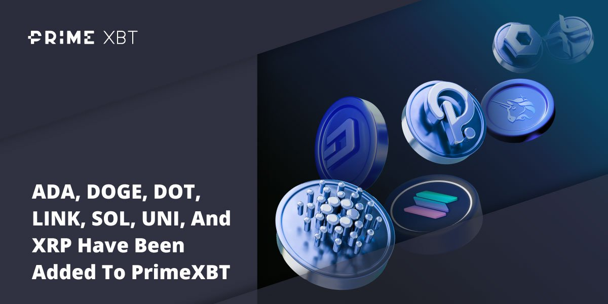PrimeXBT Enables Solana, Cardano, Polkadot, Dogecoin And More For Margin Trading and Covesting - PrimeXBT Lists
