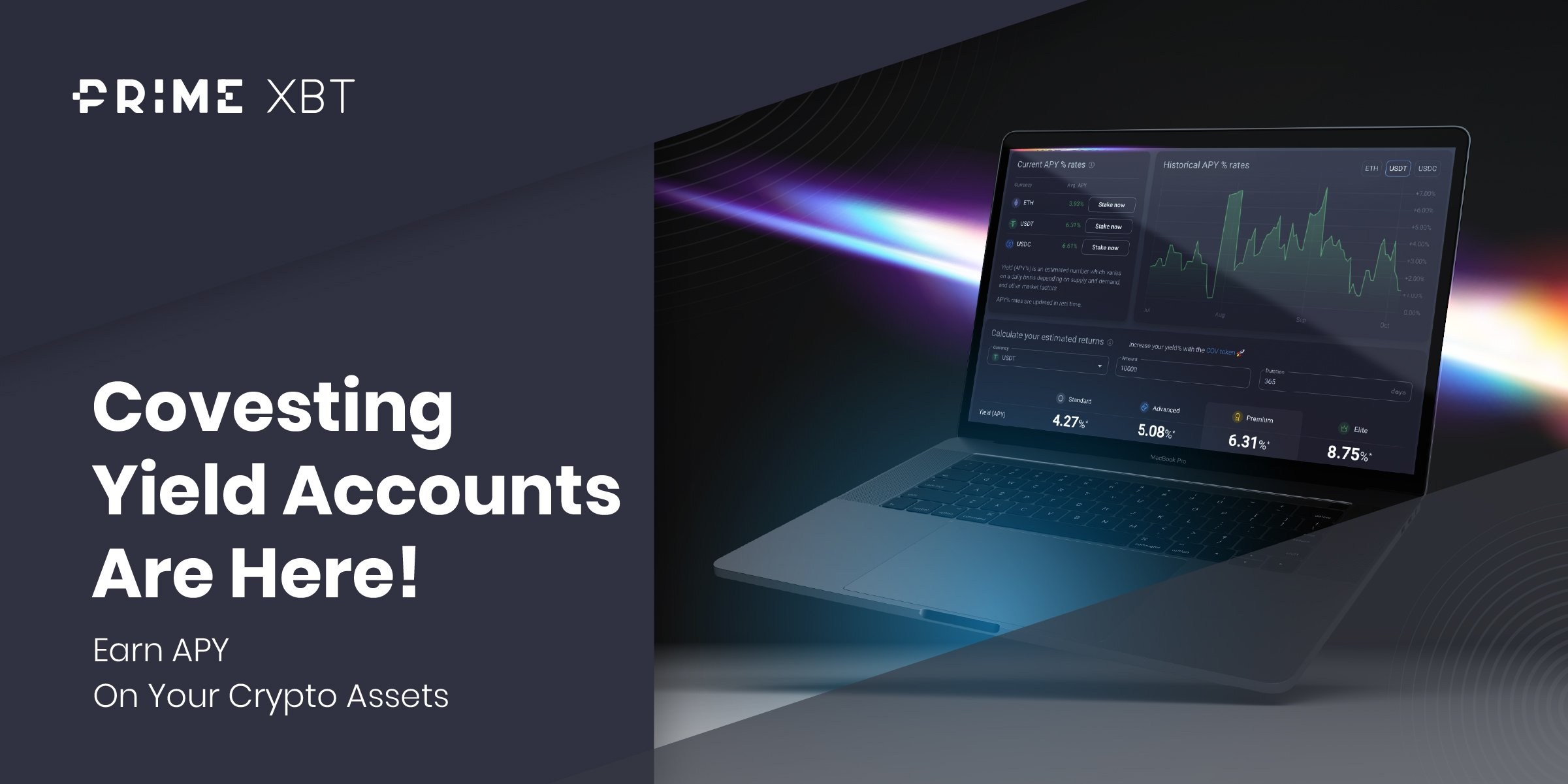 Covesting Yield Accounts Are Here! Earn APY On Idle Crypto Assets - Cov Yield Accounts