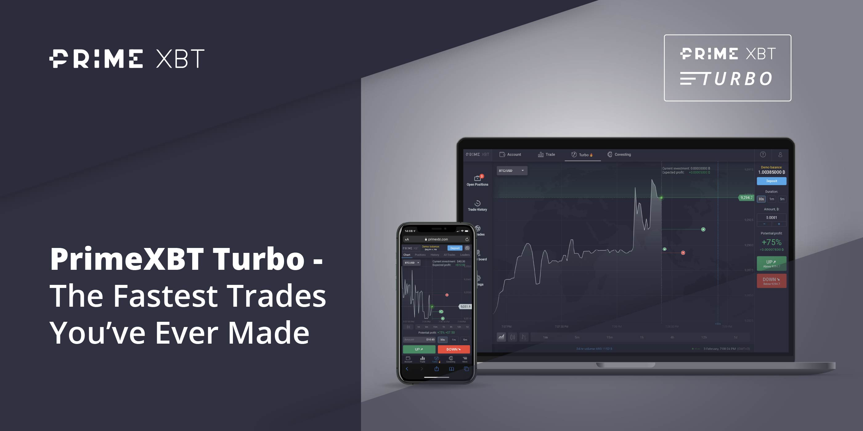 PrimeXBT Announces Launch of PrimeXBT Turbo Platform