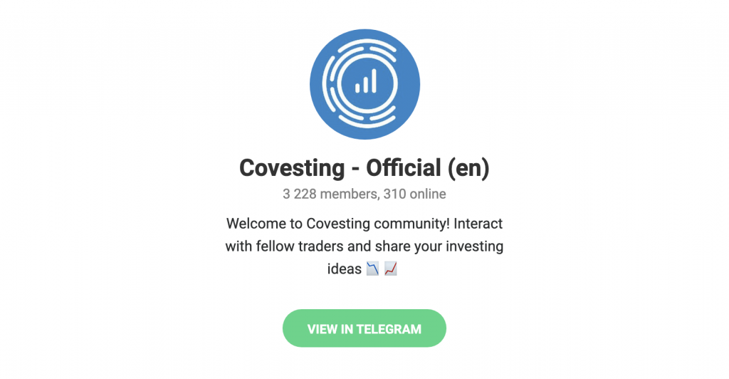 covesting telegram 1024x532 - Covesting FAQ: Everything You Need To Know About the Copy Trading Module