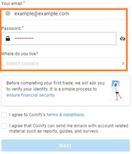 PrimeXBT Partners With Coinify To Make Buying Bitcoin Even Easier - Coinify EmailCountry 257x300